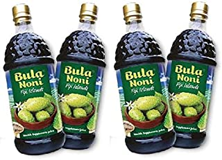 Bula Noni - 100% Certified Organic Noni (Morinda citrifolia) for Increased Energy & Body Health | No Additives, Vegetarian (Pack of 4) 1 Liter Bottles/ea, Rich in Antioxidant. DRINKNONI.COM