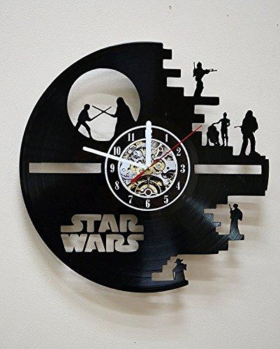 Star Wars Vinyl Wall Clock Art Decor for Living Room Wall Decoration for Bedroom Gift for Men Birthday Record Clock Star Wars Movie Home Decor Decal Darth Vader Luke Skywalker Design