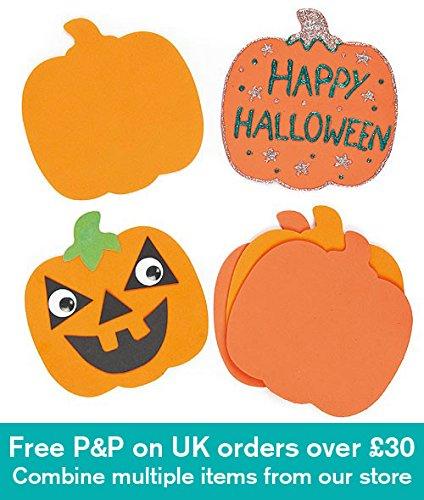 Baker Ross Formes Citrouilles en Mousse pour Halloween Que Les Enfants pourront Personnaliser et décorer (Lot de 10)