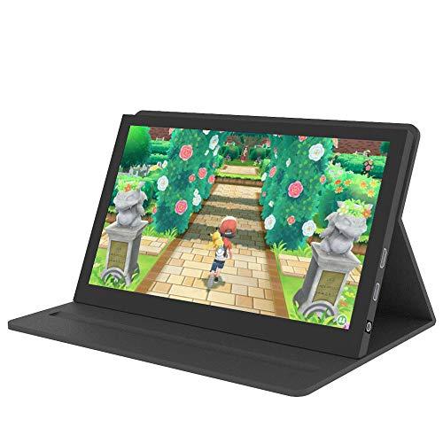 Monitor portátil Pantalla de 7 Pulgadas - Pantalla IPS capacitiva 1024x600, Segunda Pantalla con Laptop, Mini HDMI - Compatible con Raspberry Pi 4 / Pi 3 B +, para PS4 etc, con Funda de Cuero