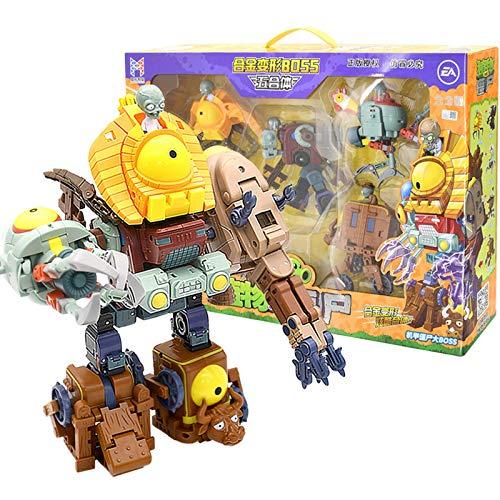 Grandi originali Plants Vs Zombies Toys 2 Transformer Toy Robot Giant Kong Zombie King Regali di compleanno di Natale Zombie Action Figures Bambole zombie