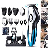 USB Charging Multi-Function Beard Trimmer Mens Hair Clipper Mustache Trimmer Shaver Body Groomer Nose Trimmer Electric Razor Professional 6 in 1 Low Noise Cordless Haircut Lining Clippers for Men