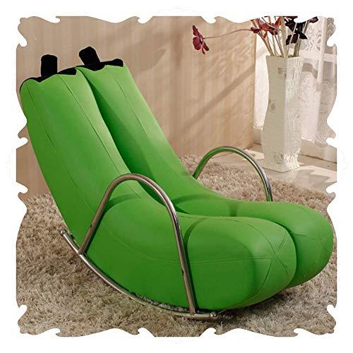 Lounge Chair Asientos de la Silla Mecedora al Aire Libre Interiores Patio Mecedora tapizada Salón clásico Sillones Silla de la Honda de Muebles for la Sala Balcón Porches Rocker 5 Color