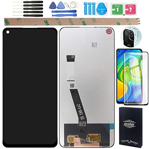 YHX-OU 6.53' per Xiaomi Redmi Note 9 Redmi 10X 4G M2003J15SC di Riparazione e Sostituzione LCD Display Touch Screen Digitizer con Utensili Inclusi+1 Pezzo Vetro temperato +1 Pellicola Vetro(Nero)
