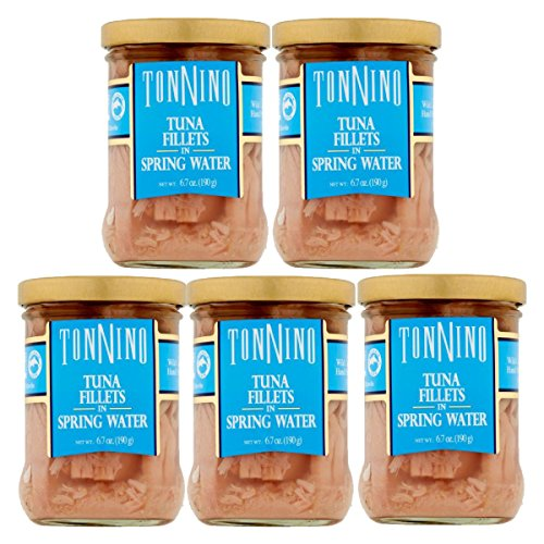 Tonnino Tuna Fillet,Spring Water 6.7 Oz (Pack of 5)