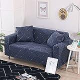 PPOS Geometrischer Twill Elastischer Sofabezug für Wohnzimmer Schonbezüge Möbelschutz Stretch Polyester Sessel Couchbezug D13 1 Sitz 90-140cm-1pc