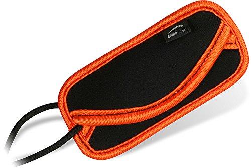 Speedlink Bag M universelle Schutzhülle für MP3-Player wie iPod Shuffle (9 x 5 x 1 cm) schwarz orange