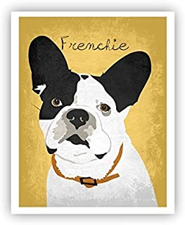 Frenchie the French Bulldog Dog Art Poster 11x14