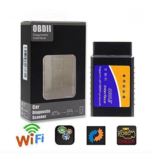 VECANCE Car Auto ELM327 WiFi OBD2 V2.1 Diagnostic Scanner with Best Chip Elm 327 Wi-Fi OBD II Scanner Fit for iOS Android Symbian Windows