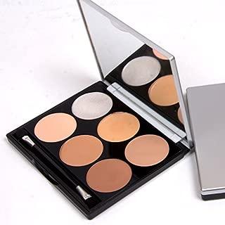 6 Color Professional Cosmetics Cream Contour Powder, Highlighting Concealer Makeup Kit 3 in 1 - Vegan, Cruelty Free & Hypoallergenic (#1)