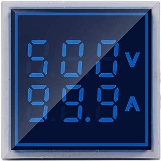 SINOTIMER ST17VA Blue Square LED Digital Voltmeter Ammeter Signal Light Voltage Current Meter Indicator AC 60-500V 6-100A