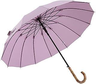 Lightweight s Windproof for Rain Men Women Umbrella (Color : Purple)
