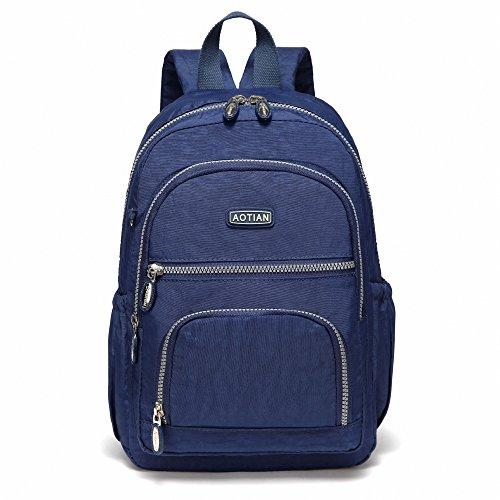 AOTIAN Frauen Rucksack Klassische Leichte Kleine Tagesrucksack Damen Nylon City Pack Jugendliche Lässiger Daypack Tasche 9 Liters