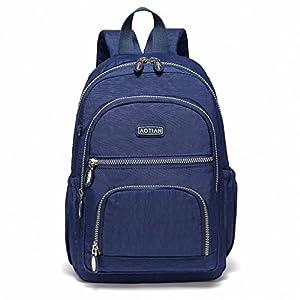 510nyAA+34L. SS300  - AOTIAN Mujer Peso Ligero Mochilas de Casual Juveniles Bolsas Escolares Bolsa de Uso Diario 9 litros Azul