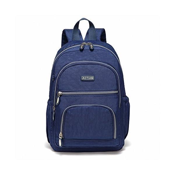 510nyAA+34L. SS600  - AOTIAN Mujer Peso Ligero Mochilas de Casual Juveniles Bolsas Escolares Bolsa de Uso Diario 9 litros Azul