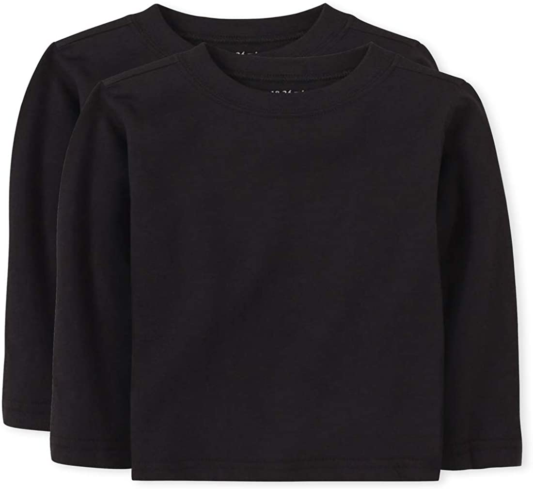 The Children's Place Baby Toddler Boys Long Sleeve Basic Layering T-Shirt: Clothing