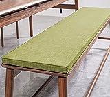 Cojín de banco de jardín de 2 plazas antideslizante para asiento de banco de madera, colchón de repuesto para interior y exterior, columpio de patio (verde, 80 x 40 cm)