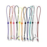 12 Pcs Face Mask Lanyards for Women Adult Child - Colorful Mask Lanyard with Lobster Clasp Adjustable Length Holder Hanger Around Neck