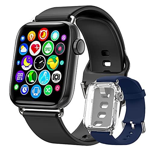 Ezanaki Smartwatch, 1.69 Zoll Fitnessuhr mit Fitness Tracker, Armbanduhr mit Schrittzähler, Pulsuhr, Blutsauerstoffsättigung & Schlafmonitor, IP68 Wasserdicht Sportuhr für Damen Herren Watch