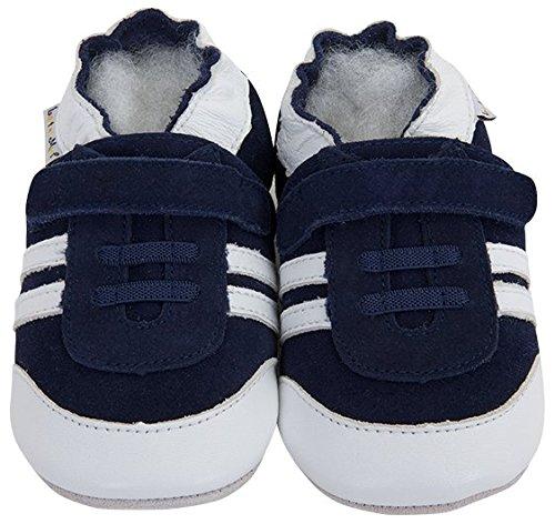 Lait Et Miel , Chaussures souples pour bébé (fille) bleu bleu 12 - 18 mois