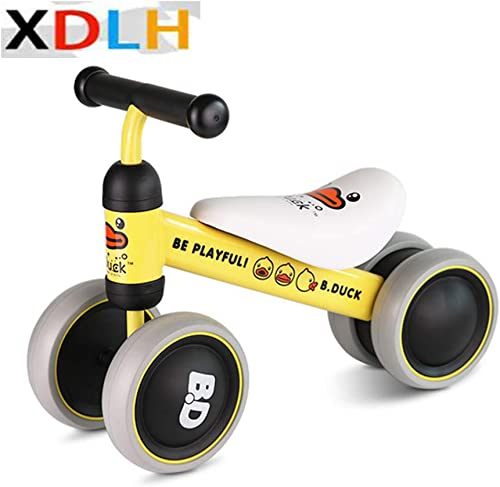 XDLH Baby Orange Balance Bikes Fahrrad Kinder Walker 5-24 Monate No Foot Pedal Infant Four Wheels Toddler Bike First Birthday Gift für 1Year Old BoysGirls Girls