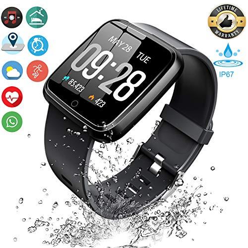 KOSCHEAL Smart Watch Pulsera Fitband,1.3inch Pantalla Grande Fitness Tracker, con Pantalla…