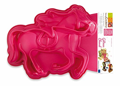 SCRAP COOKING 3161 Moule - Cheval, Silicone, Rose, 28,5 x 22,6 x 4 cm