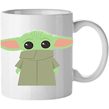 Baby Yoda The Child Starry Night Coffee Mug White 11OZ 15OZ Ceramic Mug