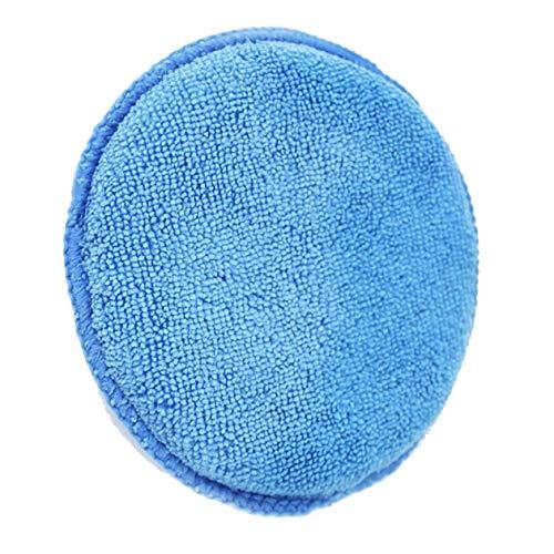 cottonlilac Weiches Mikrofaser-Autowachs-Applikator-Pad Polierschwamm Autowachs-Schwamm Auto Care 5-Zoll-Autowachs-Schwamm - Blau