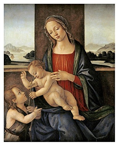 """Global Gallery Art on A Budget DP-265962-36 Sandro Botticelli The Madonna and Child with The Infant Saint John The Baptist Unframed Giclee on Paper Print, 36"""" x 29"""""""