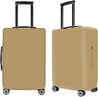 Washable Luggage Cover Spandex Suitcase Cover Protective Fits 19-32inch Luggage Zipper Carry On Covers Khaki