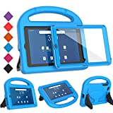 BMOUO Kids Case for Walmart Onn 7 inch Tablet,Onn 7 inch Tablet Case - Built-in Screen Protector, Shockproof Light Weight Protective Handle Stand Case for Onn 7' Android Tablet (Model: 100005206),Blue