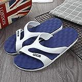 TDYSDYN Zapatillas de casa de Verano Sandalias,Sandalias y Zapatillas Rainbow Four Seasons, Zapatos de Playa de Suela Suave para Interiores y Exteriores-Azul Puro_45