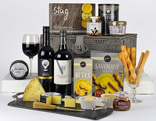 Cheese & Wine Hamper - Cheese Lovers Choice