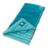 Coleman Kids Sleeping Bag | 50°F Sleeping Bag for Kids | Cool Weather Sleeping Bag, Teal , 60