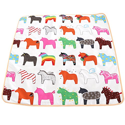 Street27 Non-Slip Square Play Mat / Rug for Kids Baby Crawling Rugs Carpet Indoor Outdoor Play Tent...