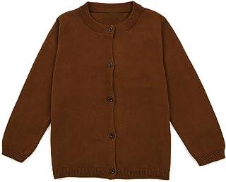 TopTie Jersey de algodón para uniforme de chaqueta de punto para niño