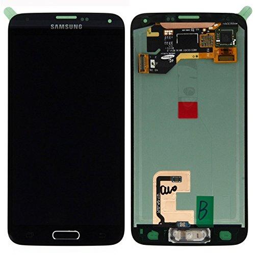 Display Full LCD Komplettset Touchscreen Glas Scheibe Ersatzteil Zubehör Reparatur Schwarz für Samsung Galaxy S5 G900 / S5 Plus G901 F + Werkzeug Opening Tool Modellnummer: GH97-15734B / GH97-15959B