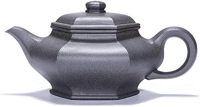 Xiang Ye 宜興急須鉱石虚フラット六角形セグメント泥牙Qinghui有名な手作りのお茶の旅 (Color : Green ash, Size : ワンサイズ)