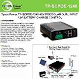 Tycon Systems TP-SCPOE-1248 Poe & Solar 8A Dual Input Battery Charging Controller - 12V In And 48V POE Out