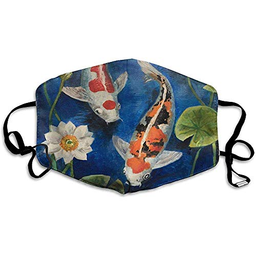 Herbruikbare Mond Maskers Visvijver Water Bloemen Winddicht Gezichtsmasker Unieke Cover Filters Allergens