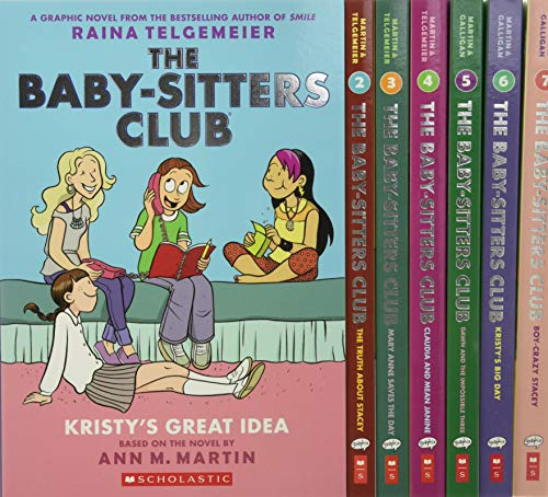 Compare Textbook Prices for The Baby-Sitters Club Graphic Novels #1-7: A Graphix Collection: Full-Color Edition The Baby-Sitters Club Graphix Color ed. Edition ISBN 9781338603637 by Galligan, Gale,Telgemeier, Raina,Martin, Ann M.