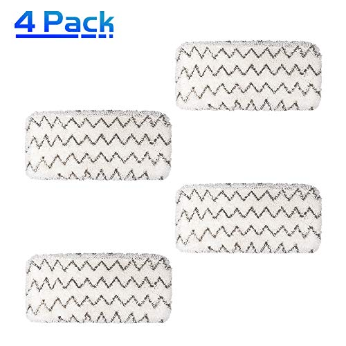 X Home Replacement Pads for Bissell Symphony Pet Mop Pads 1543 1252 Refill Pads All-in-One Vacuum Steam Mop Accessories 1132 Hard Floor Vacuum Cleaner Mop Microfiber Pads Compare Part No. 5938(4 Pcs)