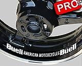 8 Sticker Decal Motorrad Buell Aufkleber Bike Motorrad Felge Felgen Innenrandaufkleber