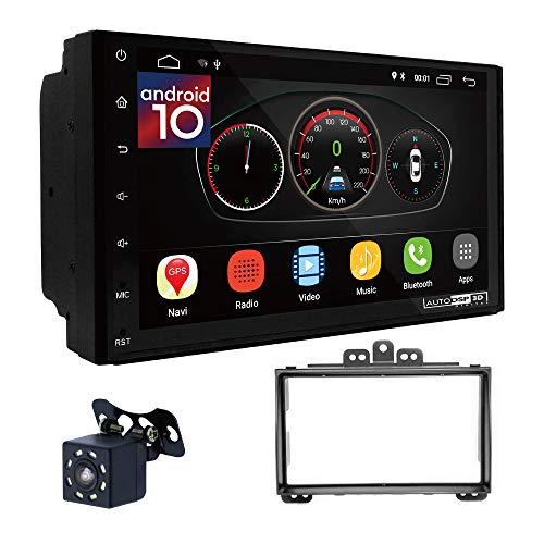 UGAR EX10 7 pollici Android 10.0 DSP Navigazione GPS per Autoradio + 11-066 Kit di Montaggio compatibile per Hyundai i-20 2009-2012