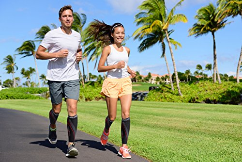 Camari Gear Sports Waden Kompressionsstrümpfe (PAAR) – Calf Sleeves für Männer & Frauen – Wadenbandage für Schnelle Erholung, Bessere Blutzirkulation, Laufen, Radfahren, triathlon, Flugreisen, Krankenschwestern - 6