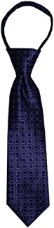 Toddler Tie for children ages 1-4 years old Regency Purple Geometric with Silver Dots Zipper Tie