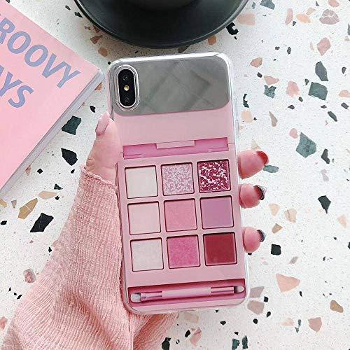 EOXO Handyhüllen iPhone X Schminkspiegel Lidschatten Muster Phone Cases Kompatibel Mit iPhone XS...
