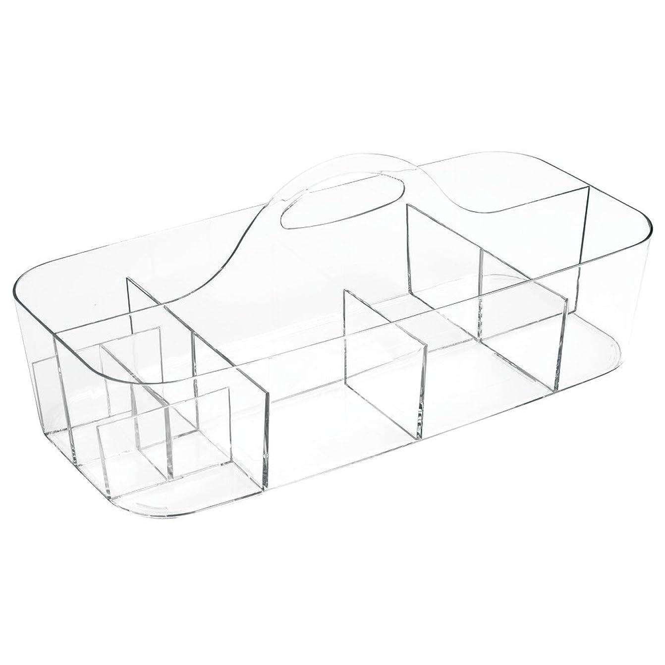 葉解明する荷物InterDesign 小物 収納 ボックス 仕切り 持ち手付き オーガナイザー Clarity Lサイズ 39780EJ