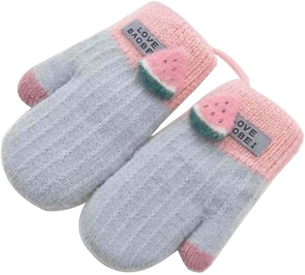 Lovely Knitted Baby Mittens Warm Winter Children Mittens Baby Gloves #21